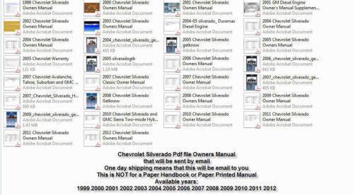 chevrolet silverado owners manual