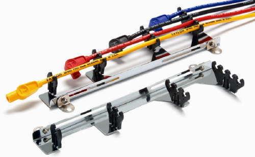 Chrome Steel Black Spark Plug Wire Loom Kit Delux Linear Kit