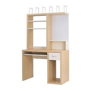 Ikea Mikael Desk Add On Discontinued Shelves Whiteboard