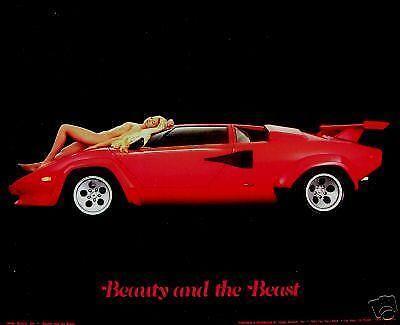 Red Lamborghini Car Wallpaper Lamborghini Countach Poster Ebay