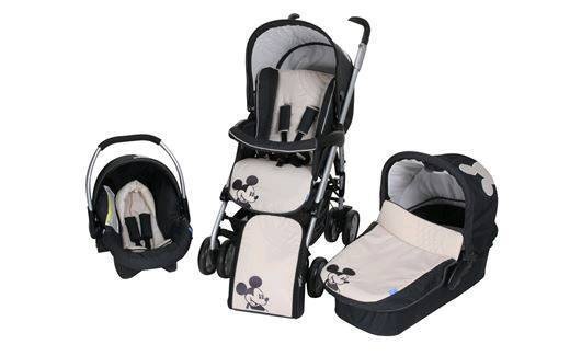 Double Pram Stokke Hauck Condor Mickey Mouse Travel System In Wallsend