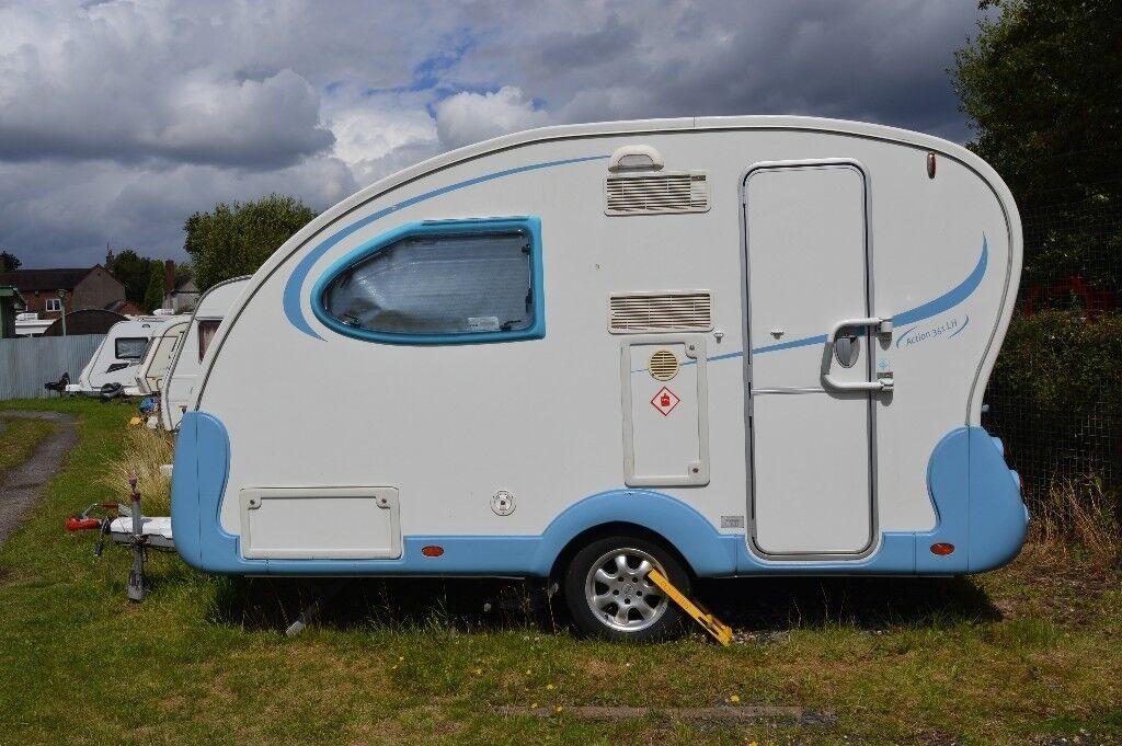 Adria Action 361 Lh Lightweight 2 Berth Caravan In