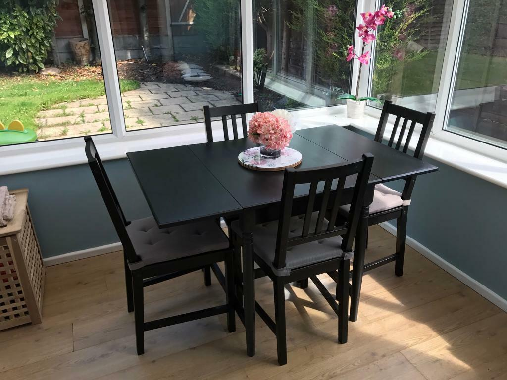 Table Ingatorp Ikea Sold Ikea Ingatorp Drop Leaf Dining Table And Four Ikea