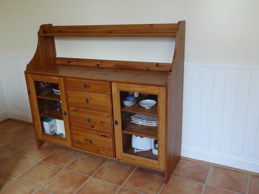 Ikea Ivar Credenza : Ikea buffet ebay new huge solid pine sideboard kitchen unit