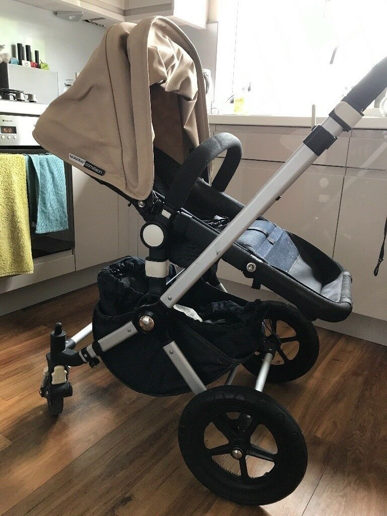 Silver Cross Pushchair Umbrella Bugaboo Pushchair 3 Positions Sand Denim In Colour Maxi