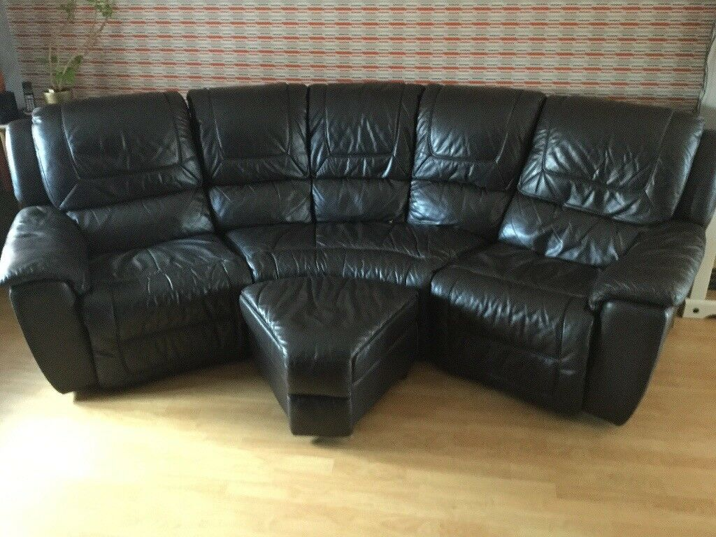 Leather Recliner Gumtree Glasgow Dfs Curved Leather Recliner Sofa In Attleborough