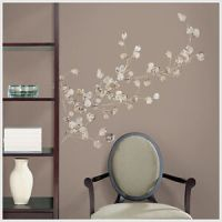 Silver Dollar Branch Big Wall Mural Stickers Tree Leaves ...