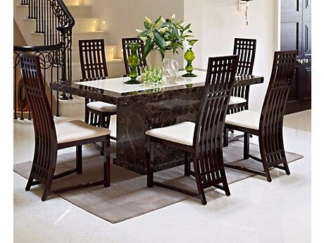 Harveys Patra Marble Dining Table And 6 Chairs Sideboard