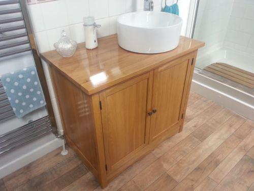 Oak Vanity Unit Home Furniture Diy Ebay