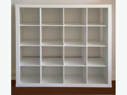Ikea White Expedit 16 4x4 Cube Shelving Storage Unit