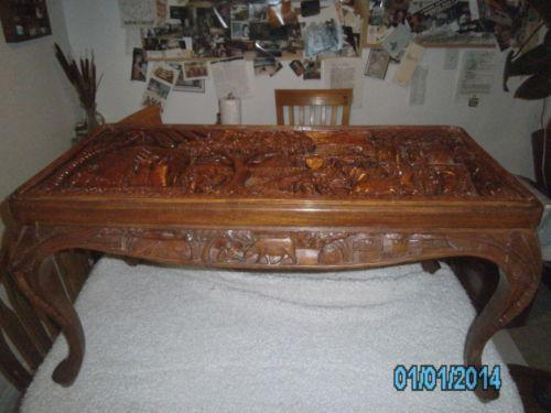 Asian Carved Table Ebay