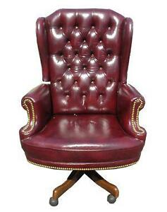 Antique leather office chairs