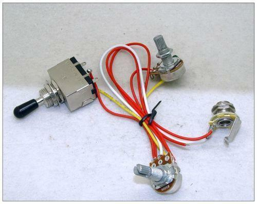 details about wiring harness for les paul cts pots