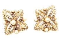 Clip on Gold Earrings Monet | eBay