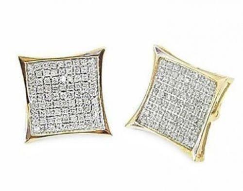 Mens Yellow Diamond Earrings