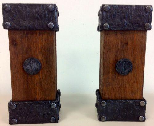 Wooden Pillar Candle Holders