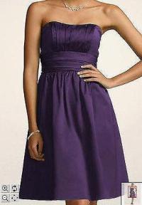 Dark Purple Bridesmaid Dress | eBay