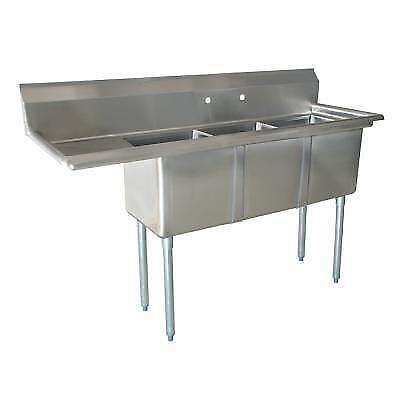 Nsf 3 Compartment Sink Ebay