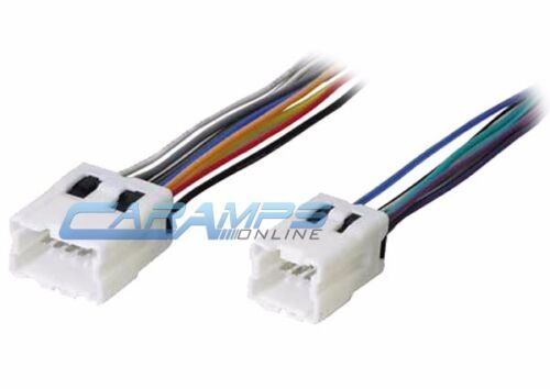 NEW CAR STEREO CD PLAYER WIRING HARNESS WIRE ADAPTER PLUG FOR