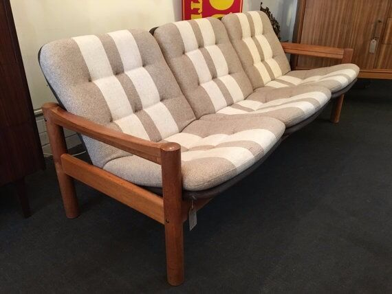 Grey Sofas For Sale Gumtree 1960s Domino Mobler Teak And Wool, Three-seater Sofa