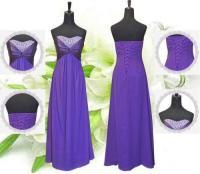 Cadbury Purple Bridesmaid Dress | eBay