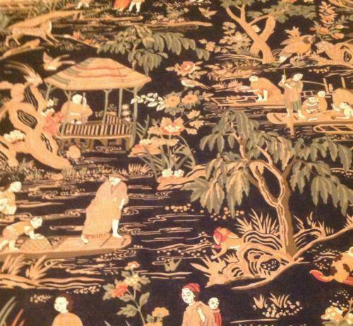 Asian Tapestry Chinoiserie Upholstery Fabric | Ebay