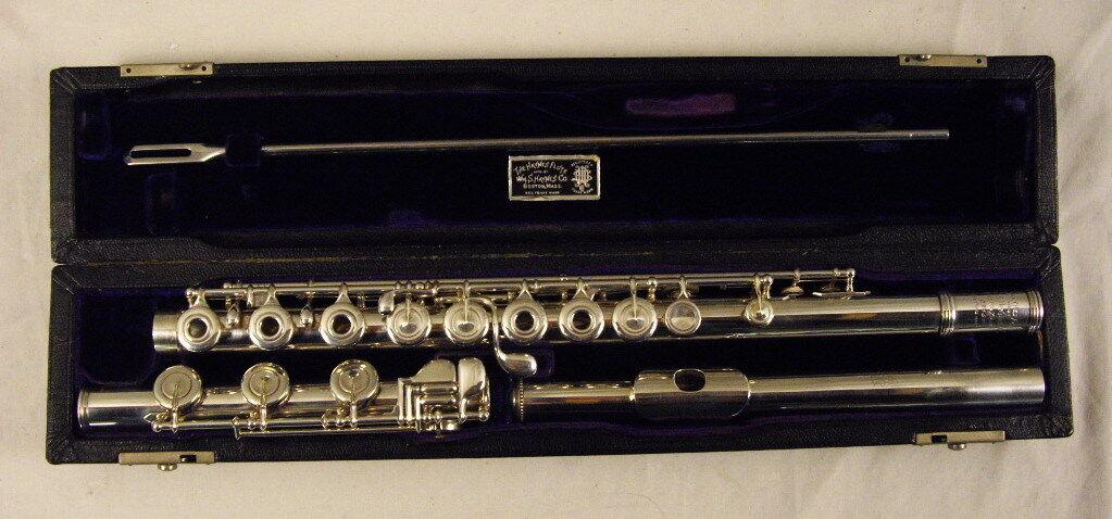 William S. Haynes Handmade Flute Soldered Tone Holes Inline G Low B Fresh Repad