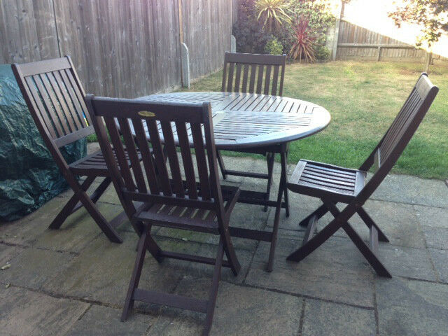 Garden Furniture Hardwood Table 4 Chair Set B Q Winchester Collection In Wandsworth - B And Q Garden Furniture Clearance Sale