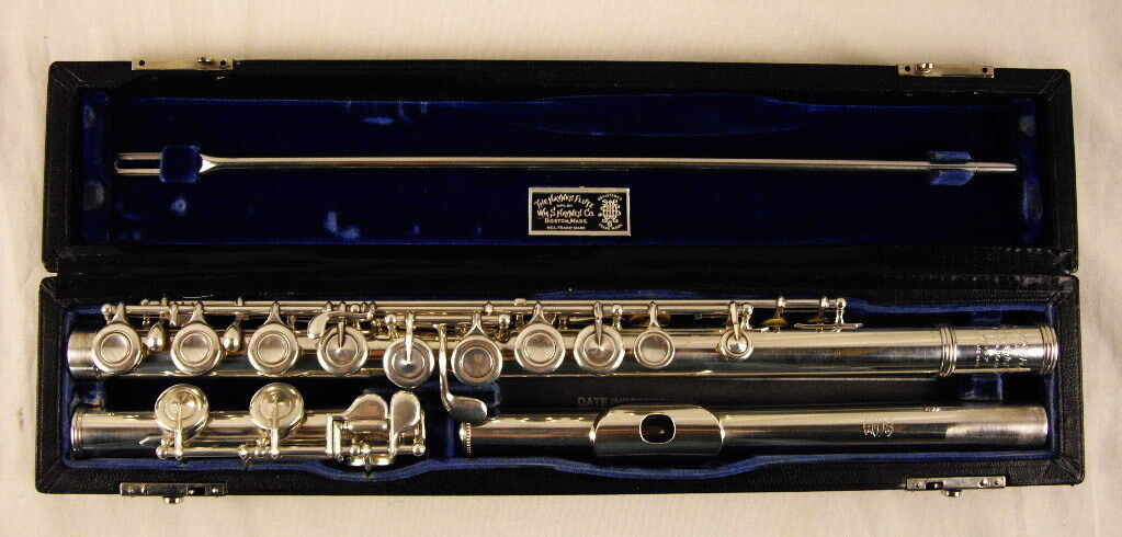 William S. Haynes Handmade Flute Soldered Tone Holes Plateau Model Nice
