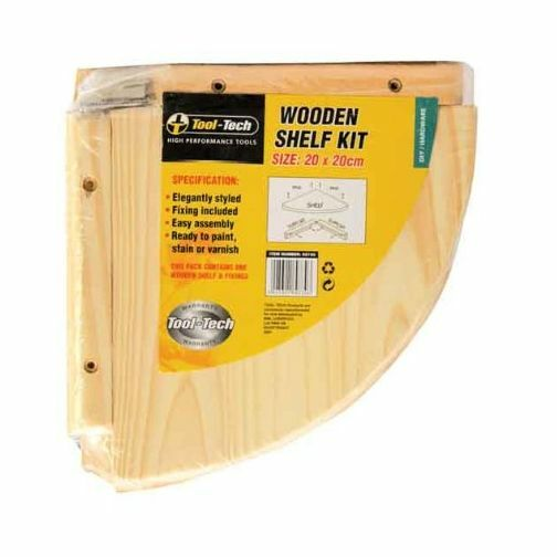Pine Wood Wooden Storage Corner Shelf Kit Unit Wall