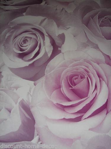 3d Wallpaper Feature Wall Purple Rose Wallpaper Ebay