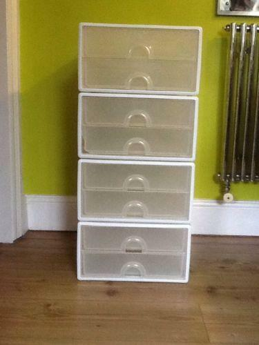 6 Drawer Chest Of Drawers Plastic Stacking Drawers: Storage Solutions | Ebay