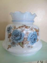 Blue Hurricane Lamp Shade | eBay