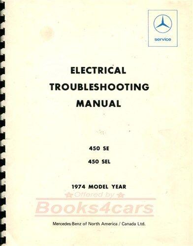 SHOP MANUAL SERVICE REPAIR ELECTRICAL WIRING DIAGRAMS MERCEDES