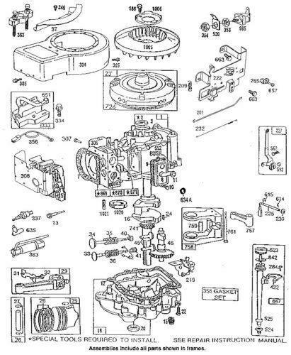 briggs and stratton 5hp engine parts