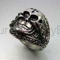 Vintage Silver Skull Ring | eBay