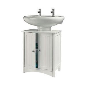 Bathroom Cabinet Bath Under Sink Storage Unit White Caddie