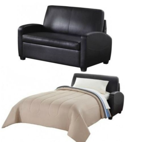 Ss44411 Mainstays Leather Sofa Couch Convertible Sleeper