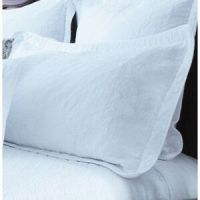 Quilted Crispy White Pillow Case Sham Scalloped Edge NEW ...