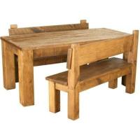Rustic Table and Bench | eBay