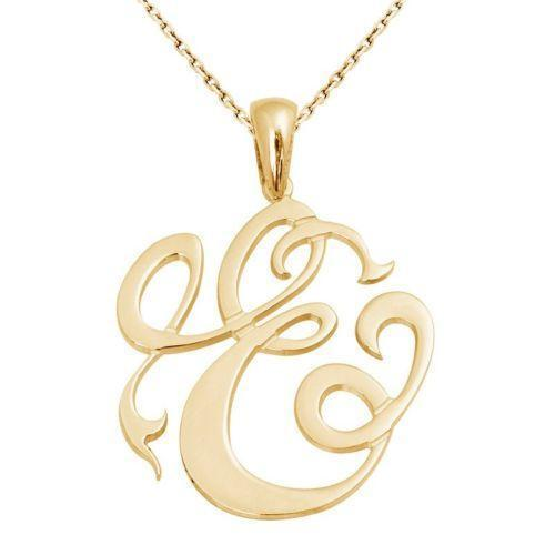 tiffany monogram initial necklace