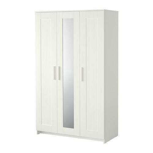 Brimnes Wardrobe With 3 Doors White 117x190 Cm In