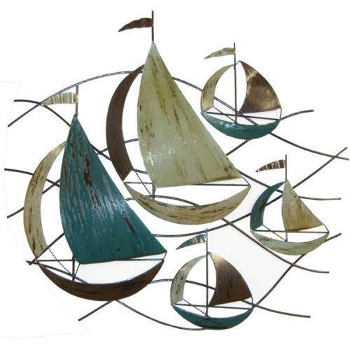 Metal Wall Art Boats