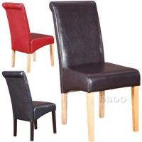 Brown Leather Dining Chairs | eBay