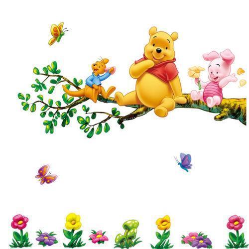 Baby Girl Nursery Wallpaper Borders Winnie The Pooh Wall Art Ebay