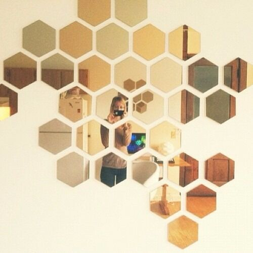 Large Mirrors Gumtree London Two Boxes Of Ikea Honefoss Honeycomb Hexagonal Mirrors