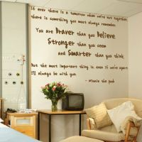 Winnie the Pooh Wall Art Quotes Words Phrases Kids Nursery ...