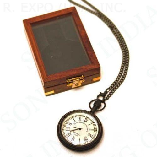 Wood Pocket Watch Box Ebay