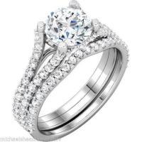 White Gold Wedding Ring Sets | eBay
