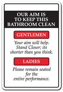 Bathroom Signs Ebay keep this bathroom clean novelty sign gift rules restroom funny ebay